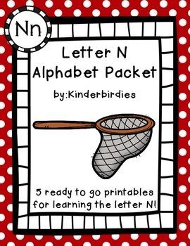 Letter N Alphabet Packet