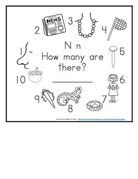 Letter N Counting Books