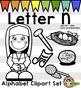 Letter N Clip Art - Phonics Clipart Set/Beginning Sounds