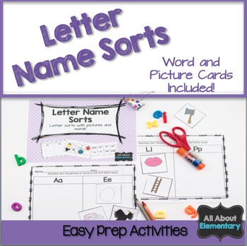 Letter Recognition Picture and Word Sorts