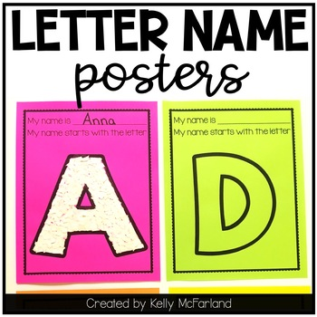 Letter Name Posters {Name Activities}