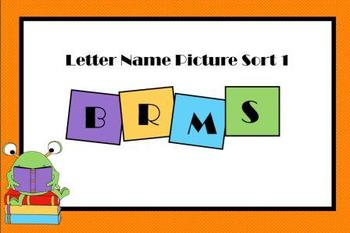 Letter Name Sort 1 Smartboard Lesson and Printable Activities