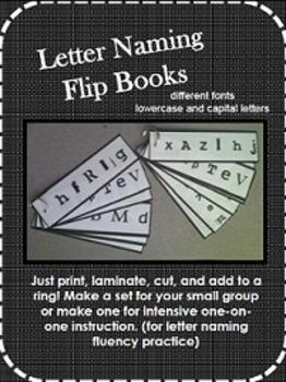 Letter Naming Fluency Flipbooks