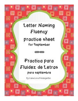 Letter Naming Fluency Practice