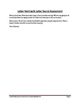 Letter Naming and Letter Sound Assessment