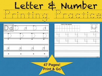 Letter & Number Printing Practice