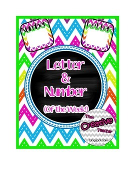 Letter & Number of the Week Pack