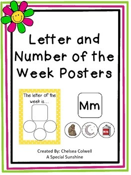 Letter- Number of the Week Posters