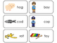 Letter 'O' CVC Picture and Word Printable Flashcards. Pres