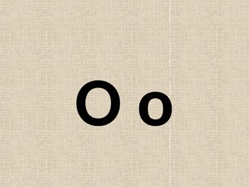 Letter O PowerPoint