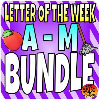 Alphabet Bundle Literacy Centers Letter Of The Week, Lette
