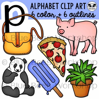 Letter P Clip Art Alphabet / Beginning Sound P