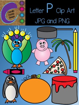Letter P Beginning Sound Clip Art Alphabet