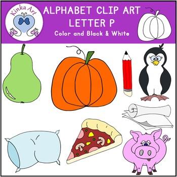 Letter P Clip Art {Beginning Sounds} Alphabet