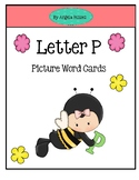 Letter P ~ Picture Word Cards