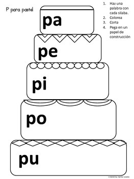 Letter P spanish activity