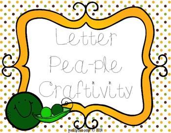 """Letter """"Pea""""ple Craft: An Alphabet Extension Activity"""