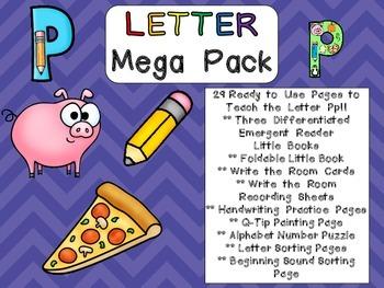 Letter Pp Mega Pack- Kindergarten Alphabet- Handwriting, L