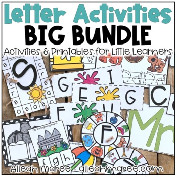Kindergarten Letter Practice NO PREP Activities