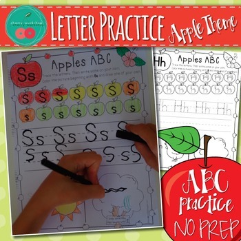Letter Practice Printables - autumn activities