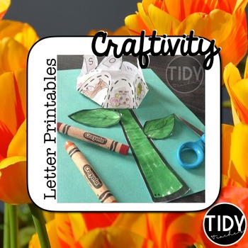 Printable Beginning Letter Cut and Paste Matching Flower A