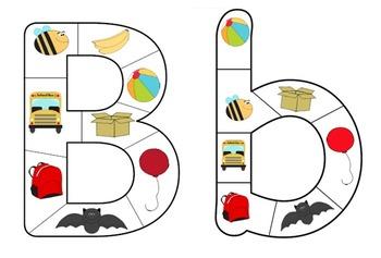 Alphabet Letter Puzzle Bundle: Lower-case and Capital Lett