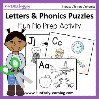 Letter Puzzles - No Prep Interactive Worksheets