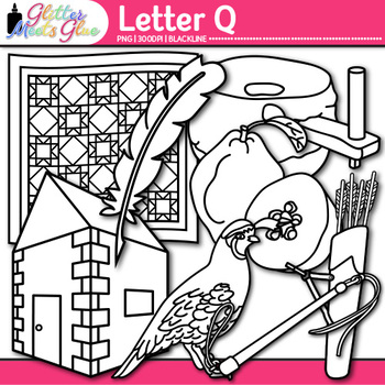 Letter Q Alphabet Clip Art {Teach Phonics, Recognition, an