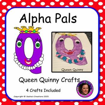 Letter Q Alphabet Craft: Queen Quinny Alpha Pal