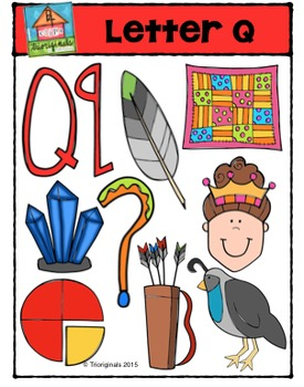 Letter Q Alphabet Pictures {P4 Clips Trioriginals Digital