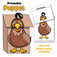 Letter Q Craft - Paper Bag Puppet Quail