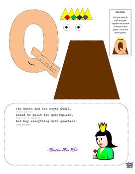 Letter Q Cutout Craft