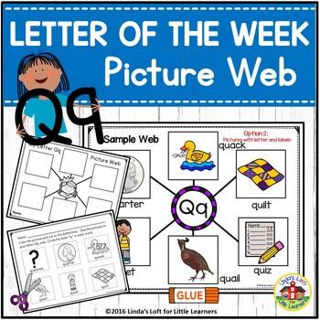 Letter Qq Beginning Sound Picture Web Activity