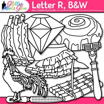 Letter R Alphabet Clip Art Line Art- Letter Recognition, I
