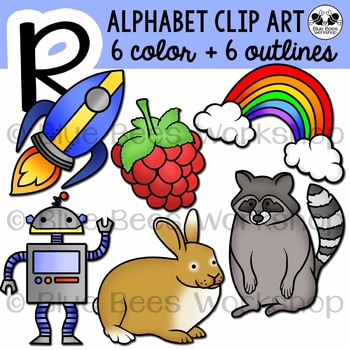 Letter R Clip Art Alphabet / Beginning Sound R