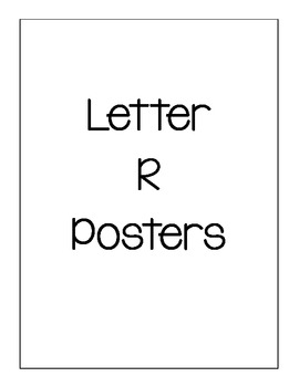 Letter R Posters