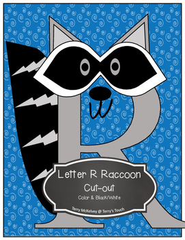 Letter R Raccoon, Letter P Pig and Letter S Snake Cut-outs