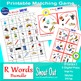 """Letter R Sound Matching Game Shout Out; 3"""" & 5""""Cards artic"""