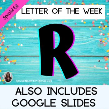 Letter of the Week Letter R Unit for Special Education