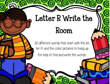 Letter R Write the Room