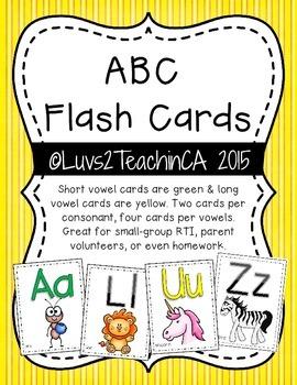 Letter Recognition: ABC Flash Cards