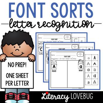 Letter Recognition Activity: Font Sorts