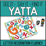 Letter Recognition Fluency YATTA Game - Available in Color