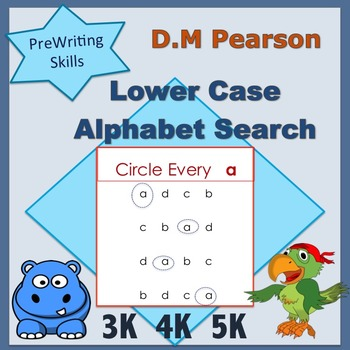 Letter Recognition  Lower Case Alphabet Search
