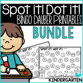 Letter Recognition - Number Recognition:Bingo Dauber Print
