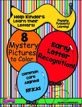 Letter Recognition -Beginning of the Year - 8 Mystery Pict