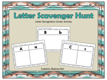 Letter Recognition Scavenger Hunt!