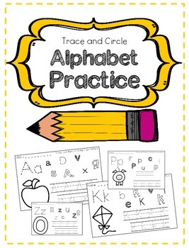 Letter Recognition: Trace and Circle Alphabet Practice