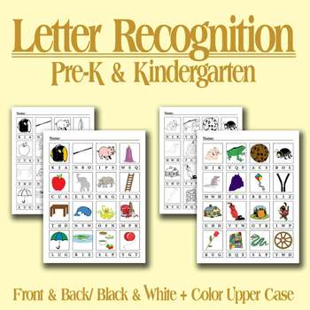 Letter Recognition -- Uppercase with pictures -- Common Co