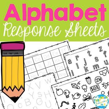 Letter Response Sheets